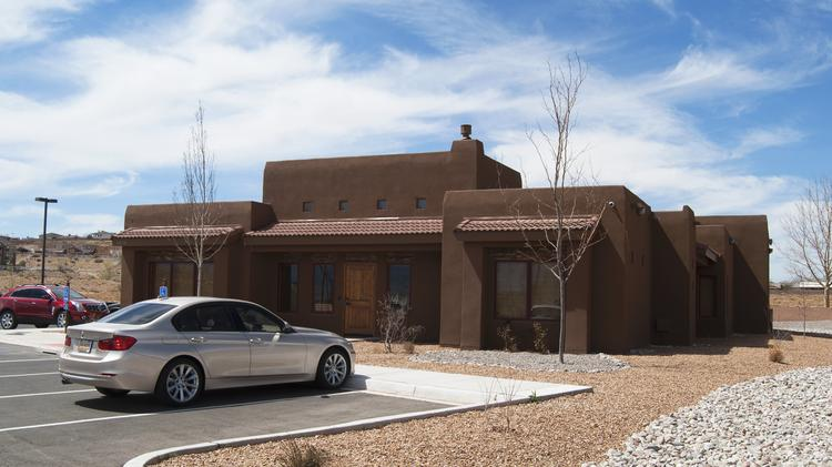 The newly built Rachel Matthew Homes headquarters in Rio Rancho. The company will begin construction soon on 60 lots in Placitas and is underway on several commercial properties in Rio Rancho.