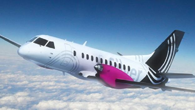 A rendering of a Silver Airways plane.