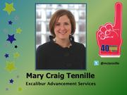 Why selected: As a vice president at ExCalibur, Mary Craig Tennille has leveraged her expertise in database management and fundraising not only for clients, but also in the local arts community, including helping the Arts Council with a $27.7 million capital campaign that exceeded its goal.