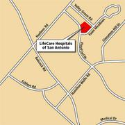 A map of LifeCare Hospitals of San Antonio