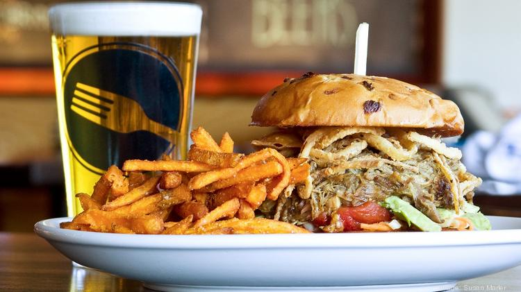 The Green Chile Pork Sandwich at Digby's, which opened at Rosedale Center March 27.
