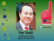 Why selected: In addition to developing innovative strategies that helped set early voting records in Guilford County as early voting director, Tim Tsujii founded SynerG's young professional sports league, which has become a hub for hundreds to build professional and social relationships.