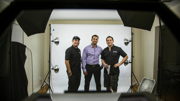 Meet part of the Fusion Studios team: (from left) Miguel Prieto, production manager; Andres David, co-worker; and Carlos Karluca, creative director.