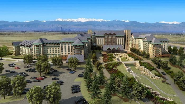 An artist's rendering of the proposed $800 million Gaylord Entertainment hotel complex in Aurora near Denver International Airport.