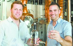 Middle West Spirits LLC founders Ryan Lang, left, and Brady Konya.