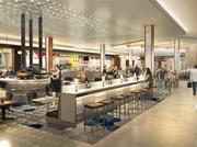 A rendering of the revamped food court at Southwest Plaza, which will be renamed Mountain Terrace.