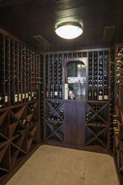 Wine cellar at 6020 N. Bay Road, Miami Beach