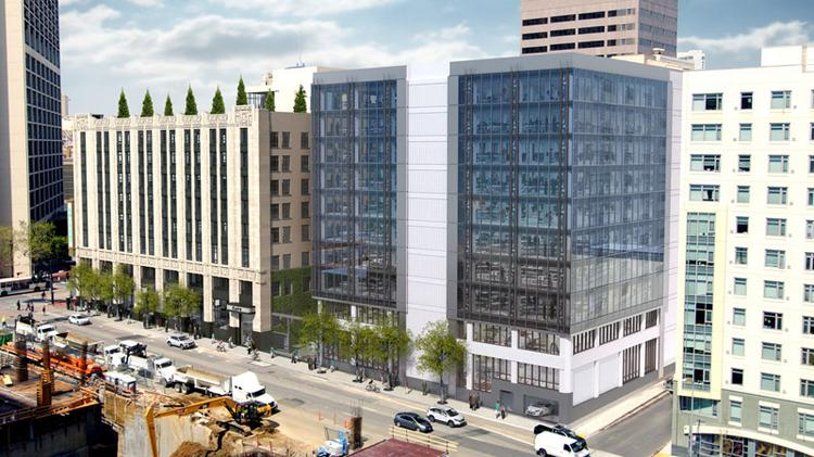 Twitter pre-leased all of Shorenstein Properties' One Tenth, a 300,000-square-foot office building next to Twitter's headquarters.