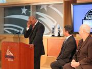 Nick Anderson gets a bit teary-eyed after accepting the award.