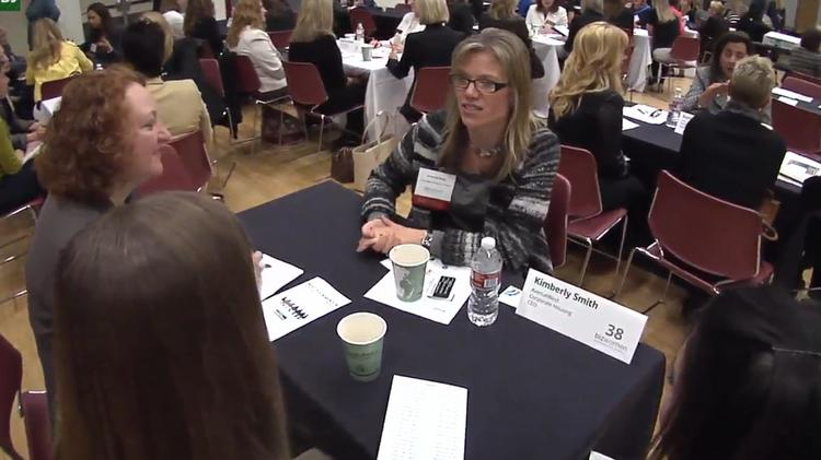 Kimberly Smith, CEO of AvenueWest Corporate Housing, was one of dozens of mentors at Monday's event.