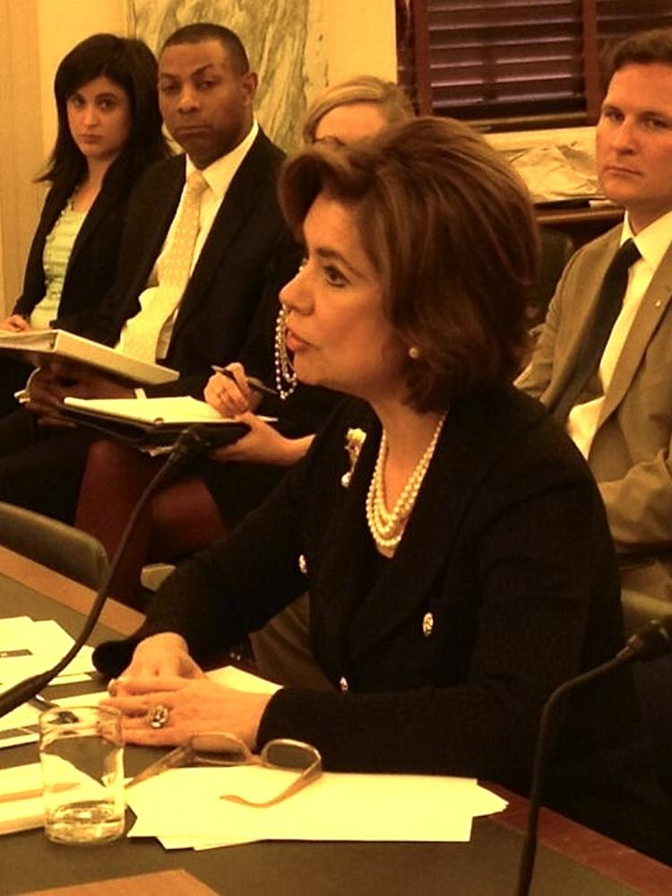 SBA Administrator Maria Contreras-Sweet testifies about her agency's budget request before the Senate Small Business and Entrepreneurship Committee.