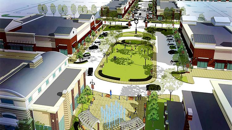 A rendering of the McCandless Crossing development by AdVenture Development LLC in which Dick's Sports Goods opened April 8.
