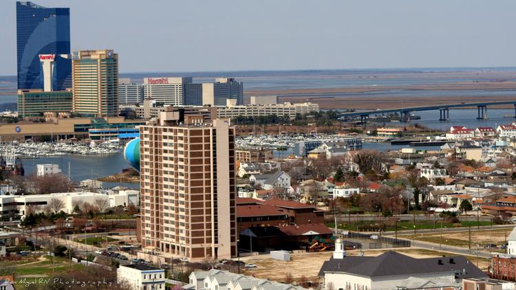A view from above Atlantic City.