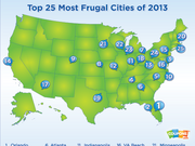 Coupons.com ranks the 25 most frugal cities in the U.S.