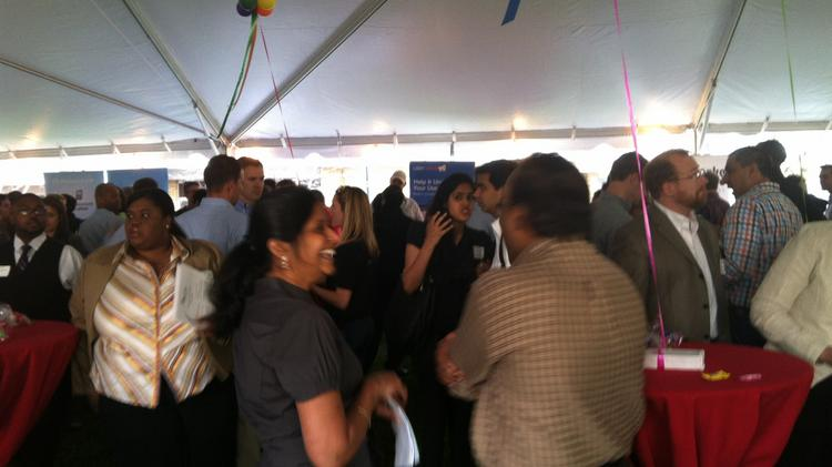 "The ""Tech Jobs Under the Big Top"" job fair happened Wednesday night in Durham."