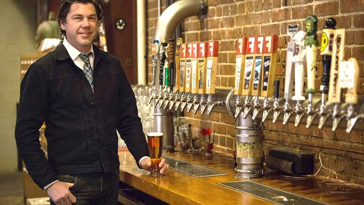 Sean Lilly Wilson, owner of Durham-based Fullsteam Brewery, obtains ingredients from North Carolina farms.