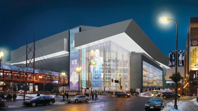 A rendering of a redesigned Target Center.