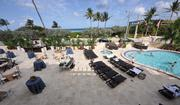 The private pool area of the Villas by the Sea at the Marriott Delray.