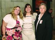 Tara Zimmerman, left, Leslie Montgomery, center, and Barbara Peterson of Blind & Vision Rehabilitation Services of Pittsburgh.