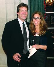 Winner Mike Schiller of Green Building Alliance and Becky Jarold of B. Jarold and Co. LLC.
