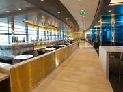 The new United Club  lounge for business class travelers at Heathrow includes a bar and seating for more than 280.  Both lounges debut in June.