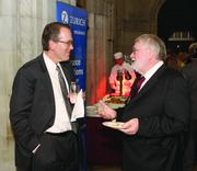 Gary Singery, left, of UPS and Daniel Johnese, guest of award winner Don Block of Greater Pittsburgh Literacy Council.