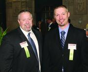 Winners Kenny Ogilvie, left, and Andrew Patz of EHS Support LLC.