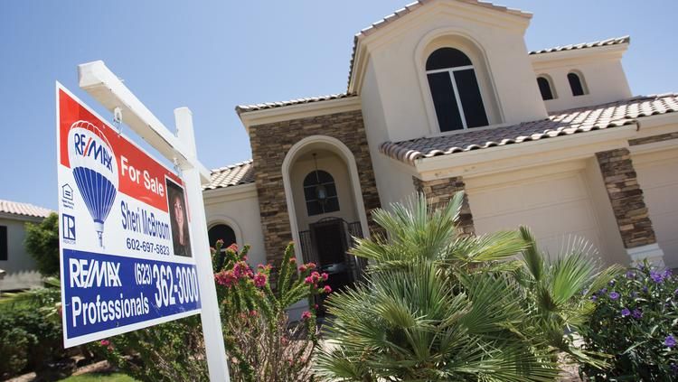 New home prices hit record highs last month, but sales tumbled to an 8 month low.