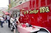 Up In Smoke BBQ was another food truck in the food village.