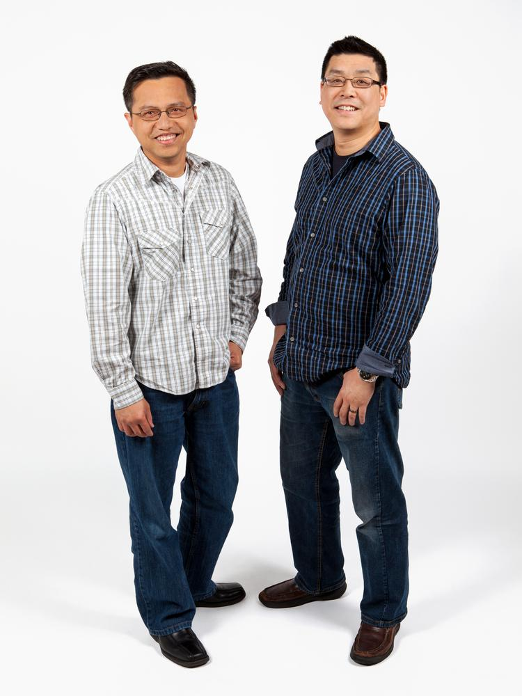 Munchery co-founders Tri Tran and Conrad Chu (right) have backgrounds in software engineering and user experience design. Their company delivers cooked meals created by professional chefs.
