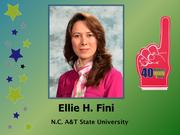 Why selected: An accomplished teacher, researcher and engineer, Ellie Fini's innovative work using pig waste in the making of asphalt as a means of decreasing the use of petroleum is an example of the type of tech transfer at a local universities that hold great promise for the Triad's economic future. Fini also established a program designed to mentor deaf middle school girls as a means of enhancing diversity within engineering.