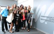 WNBA prospects got one of the first looks of the ESPNW display during a tour of the network's offices following the draft.