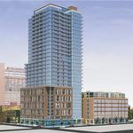 Plan for 34-story apartment tower floated downtown on former condo site