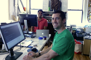 Seer founders Connall Arora, CEO, (left) and Joe Laws, CTO (right).