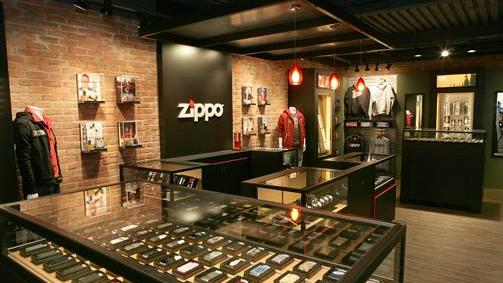 Zippo's new stores in Las Vegas will be patterned after this model store at its corporate headquarters in Bradford, Pa., north of Pittsburgh.