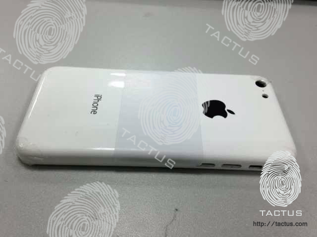 Mobile accessories maker Tactus posted this photo online last week, claiming it was an early prototype shell of the forthcoming, all-plastic iPhone.