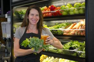 Stacy Madison, co-founder of Stacy's Pita Chips, has opened a juice bar in Needham.