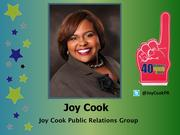 """Why selected: Joy Cook, the owner and lead strategist at Joy Cook Public Relations Group, is considered a pioneer in the use of social media in public relations, a distinction that earned her the moniker of """"Ms. Twitter"""" and landed her an invitation to the White House. Cook's civic involvement includes serving on numerous boards, including the Black Child Development Institute Board, the Greensboro Commission on the Status of Women."""