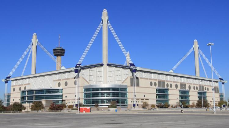San Antonio's Alamodome is located downtown, near several hotels and attractions.