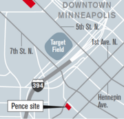 Mortenson Development has a deal to buy a site in downtown Minneapolis near First Avenue nightclub, where it's planning a nine-story, 220-room limited service hotel. It is the Pence site on the map.