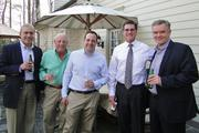 Other attendees included, from left, Jeff Martello, president of K3 Construction; Ron Levine, vice president of marketing for Myers Solomon Realty; Jordan Levine, president of Myers Solomon Realty; James Martinko, co-office managing principal of Reznick; and Andrew Grose, CEO of Nortec.