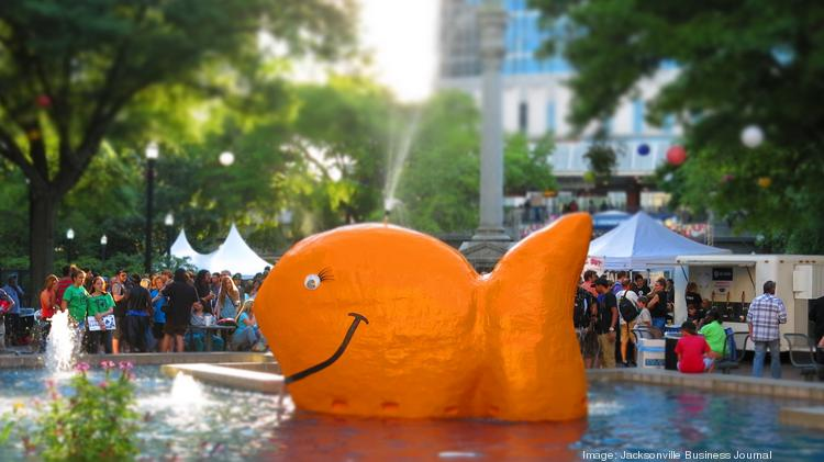 Hemming Plaza was the epicenter of One Spark's 2014 opening night.