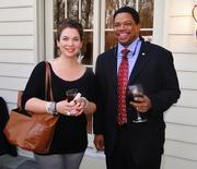 Rachel Blumenthal, director of Executive Leaders Radio, and Morris Brown, president and CEO of Omnitec Solutions, also attended the networking event.
