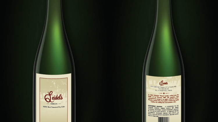 Leidel's Hebron Cider will be in Twin Cities local liquor stores in late April.