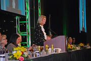 Kentucky Derby Festival chairwoman Chris Whelan welcomed everyone to the They're Off! luncheon.