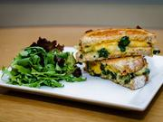 Spinach and cheddar grilled cheese at GCDC.