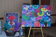 This large painting, from Pinot's Palette, will be auctioned off at Friday night's Fillies Ball.