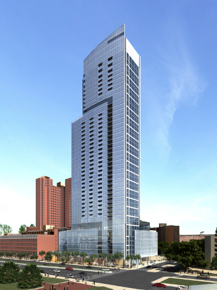An Artistu0027s Rendering Of A Skyscraper Proposed For 414 Light St., The Site  Of