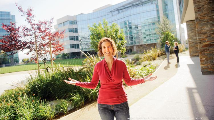 Nancy Vitale, vice president of human resources at Genentech, brings patients to present human voices in the company's fight against disease.