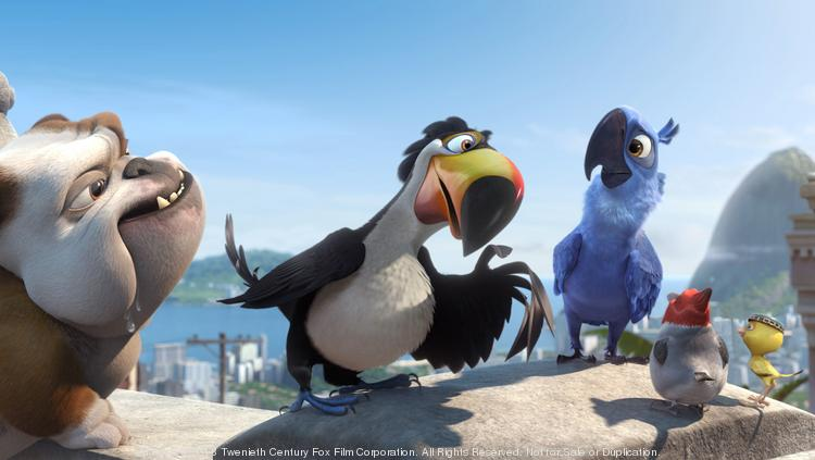 """""""Rio 2"""" will give """"Captain America: The Winter Soldier"""" a run for its money at the box office this weekend, as both films are tracking in the $40 million to $45 million range."""